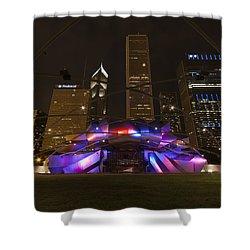 Jay Pritzker Pavilion Chicago Shower Curtain by Adam Romanowicz