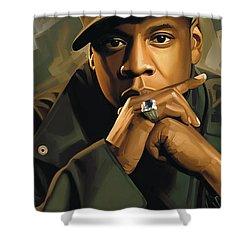 Jay-z Artwork 2 Shower Curtain by Sheraz A