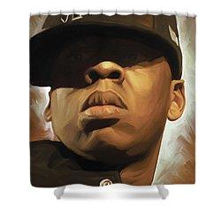 Jay-z Artwork Shower Curtain by Sheraz A