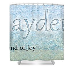 Jayden - Sound Of Joy Shower Curtain by Christopher Gaston