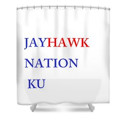 Jayhawk Nation Shower Curtain by Aaron Martens