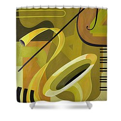 Jazz Shower Curtain by Carolyn Hubbard-Ford