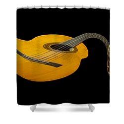 Jazz Guitar 2 Shower Curtain by Debra and Dave Vanderlaan