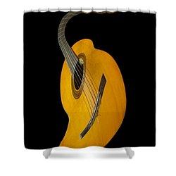 Jazz Guitar Shower Curtain by Debra and Dave Vanderlaan