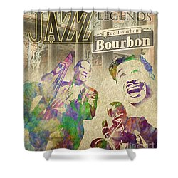 Jazz Legends Shower Curtain by Timothy Lowry