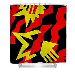 Shower Curtain featuring the mixed media Jazz by Michele Myers
