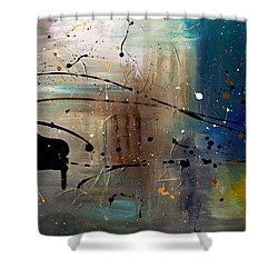 Jazz Night Shower Curtain by Carmen Guedez