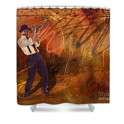 Jazz Nrg Shower Curtain by Bedros Awak