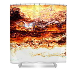 Shower Curtain featuring the digital art Jazz by Richard Thomas