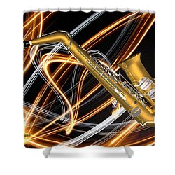 Jazz Saxaphone  Shower Curtain