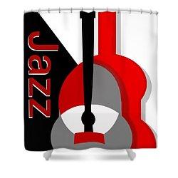 Jazz Vibe Shower Curtain by Christine Fournier