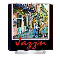 Jazz'n New Orleans Shower Curtain by Dianne Parks