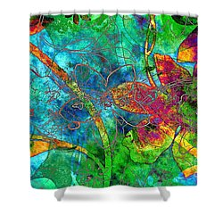 Jazzy Shower Curtain by Darla Wood