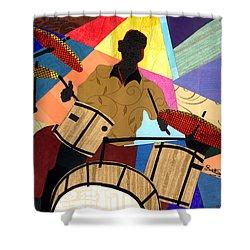 Jazzy Drummer Shower Curtain