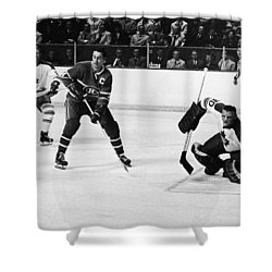 Jean Beliveau Poster Shower Curtain by Gianfranco Weiss