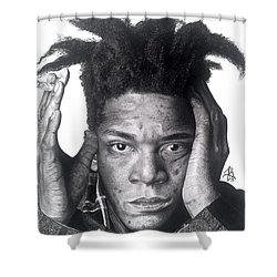 Jean Michel Basquiat Drawing Shower Curtain