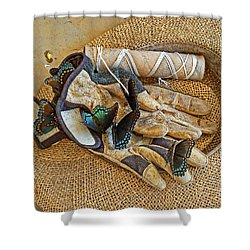 Jean's Butterflies Shower Curtain by Larry Bishop