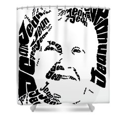 Shower Curtain featuring the painting Jean's Portrait by PainterArtist FINs husband Maestro