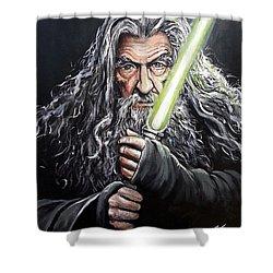 Jedi Master Gandalf Shower Curtain
