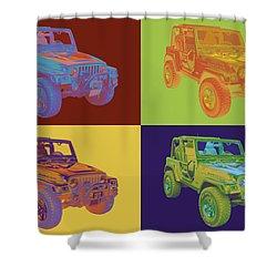 Jeep Wrangler Rubicon Pop Art Shower Curtain