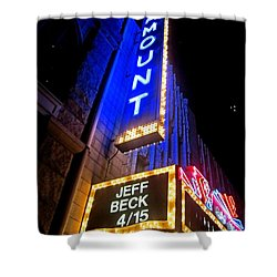 Shower Curtain featuring the photograph Jeff Beck At The Paramount by Fiona Kennard