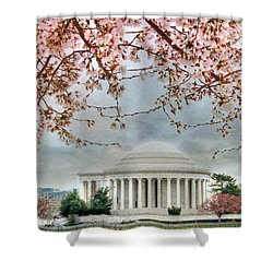 Jefferson Blossoms Shower Curtain by Lori Deiter