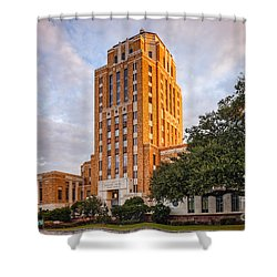 Jefferson County Courthouse At Sunrise - Beaumont East Texas Shower Curtain