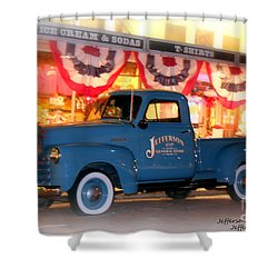 Jefferson General Store 51 Chevy Pickup Shower Curtain