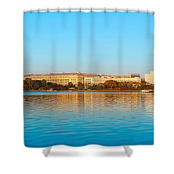 Jefferson Memorial And Washington Shower Curtain