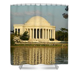 Jefferson Memorial At Sunset Shower Curtain by Emmy Vickers