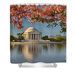 Jefferson Memorial In Spring Shower Curtain