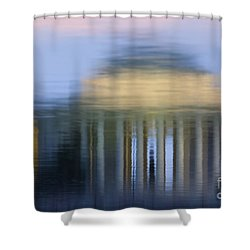 Jefferson Memorial Reflection Shower Curtain by Clarence Holmes
