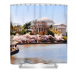 Jefferson Memorial Washington Dc Shower Curtain by Vizual Studio