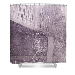 Jefferson Texas Ghost Eyes Shower Curtain by Donna Wilson