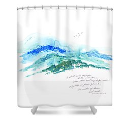 Jehovah Helps Us Shower Curtain by B L Qualls