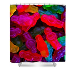 Shower Curtain featuring the photograph Jelly Baby Abstract 4 by Mark Blauhoefer