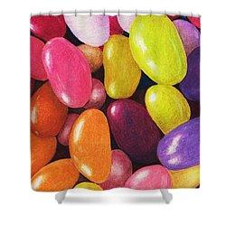 Jelly Beans Shower Curtain by Anastasiya Malakhova
