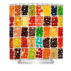 Jelly Beans Shower Curtain by Anne Kitzman