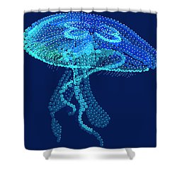 Jellyfish Bedazzled Shower Curtain