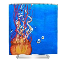 Jellyfish Shower Curtain by Marisela Mungia