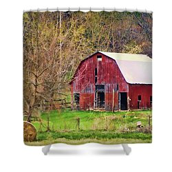 Jemerson Creek Barn Shower Curtain