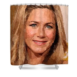 Jennifer Aniston Portrait Shower Curtain
