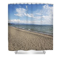 Shower Curtain featuring the photograph Yellowstone Lake by Belinda Greb