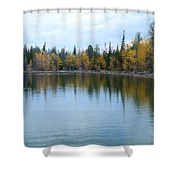 Jenny Lake Shower Curtain by Kathleen Struckle