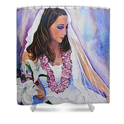 Jenny Shower Curtain by Margaret Bobb