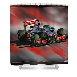Jenson Button  Shower Curtain