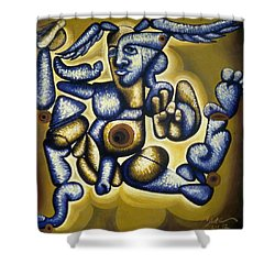 Jere Hellios Shower Curtain by Feile Case