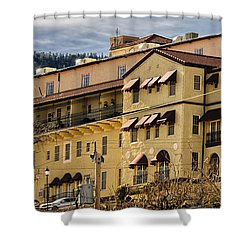 Shower Curtain featuring the photograph Jerome Grand Hotel No.18 by Mark Myhaver