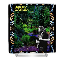 Shower Curtain featuring the photograph Jerry At Psychedelic Creek by Ben Upham