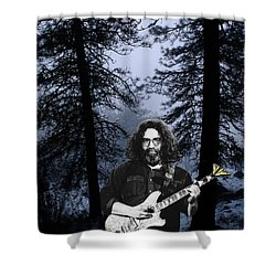 Shower Curtain featuring the photograph Jerry Cold Rain And Snow by Ben Upham
